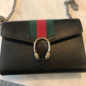 bd22b3b5c38 Gucci Bags - Gucci Dionysus web stripe leather WOC